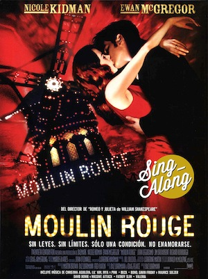 Moulin Rouge Sing-Along cartelito